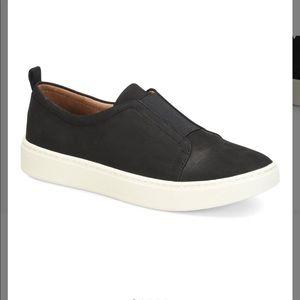 Sofft True Black Safia Nubuck Slip on Sneaker